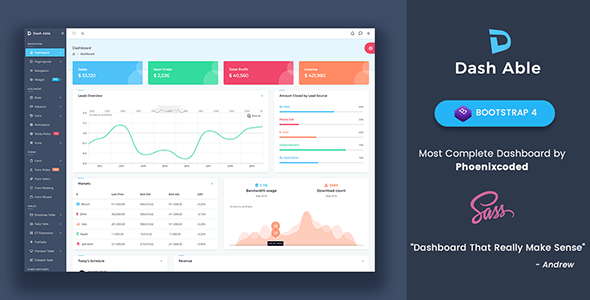 Able Pro Bootstrap, Angular & React Admin Template